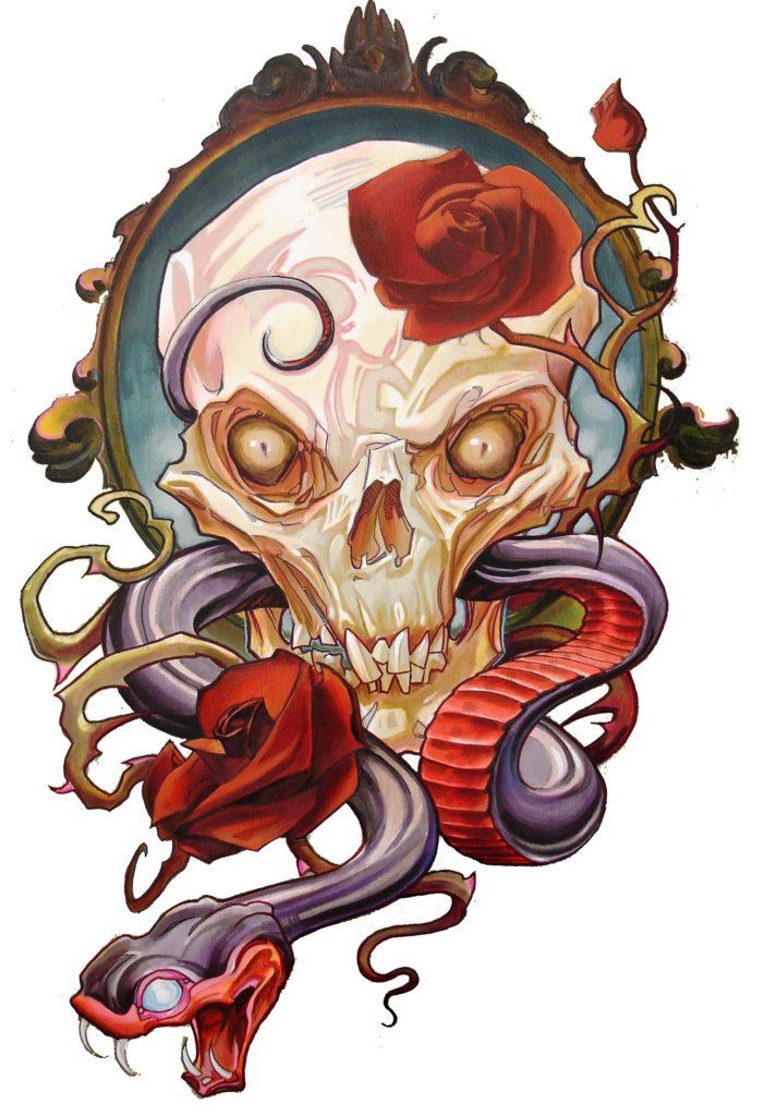 skull snake t shirt copy